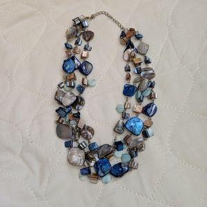 Jewelry - Gorgeous chunky 3-tier stone necklace